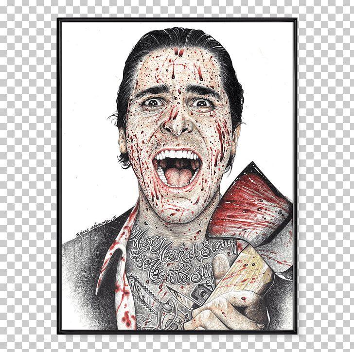 American psycho emoji clipart graphic transparent Christian Bale American Psycho Patrick Bateman Film Poster PNG ... graphic transparent