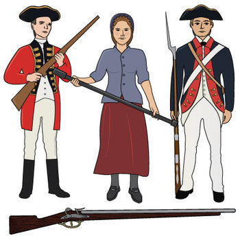 American revolution weapons clipart graphic free stock American Revolution Clip Art graphic free stock