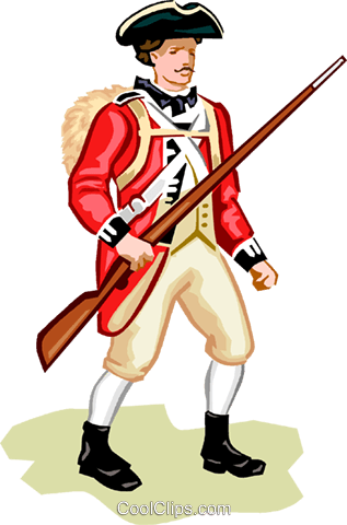 American revolution weapons clipart graphic royalty free library American Revolution - British Soldier Royalty Free Vector Clip Art ... graphic royalty free library