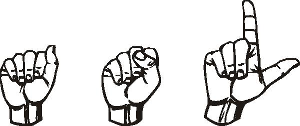 American sign language clip art. Asl at clker com