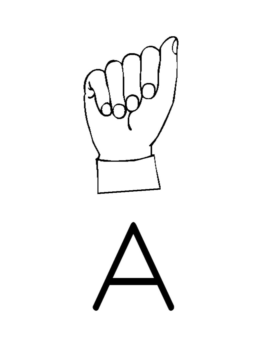 American sign language clipart graphic freeuse Sign Language Alphabet Clipart - Clipart Kid graphic freeuse