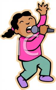 American singing clipart banner transparent download A Young African American Girl Singing Into a Microphone - Royalty ... banner transparent download