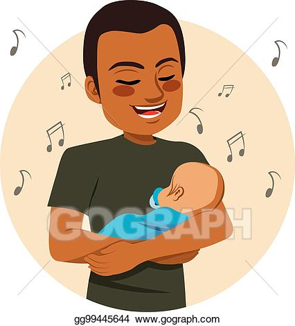 American singing clipart png freeuse library Vector Illustration - Singing father. EPS Clipart gg99445644 - GoGraph png freeuse library