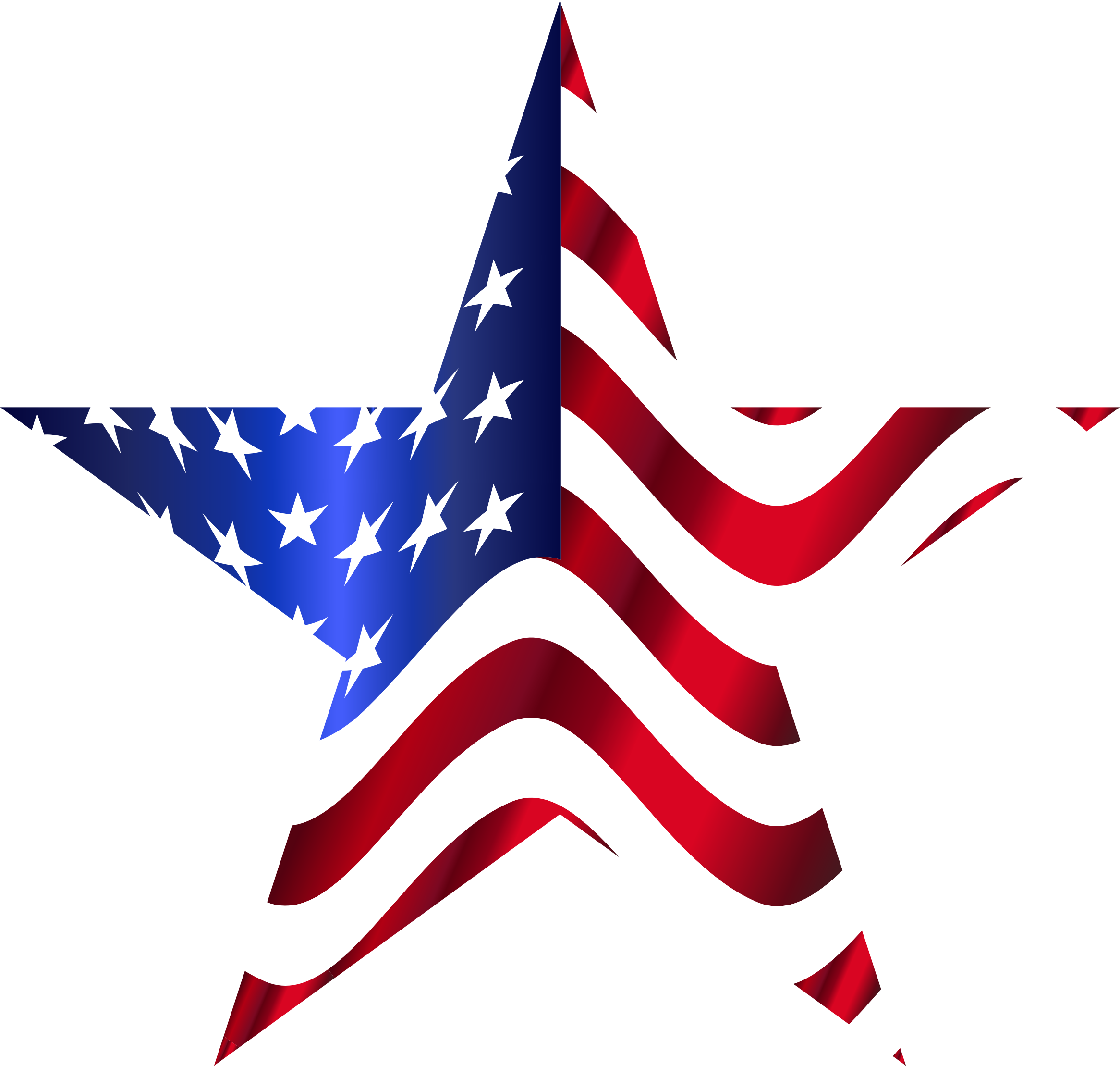 American star clipart clip black and white stock Clipart - American Flag Star 2 clip black and white stock
