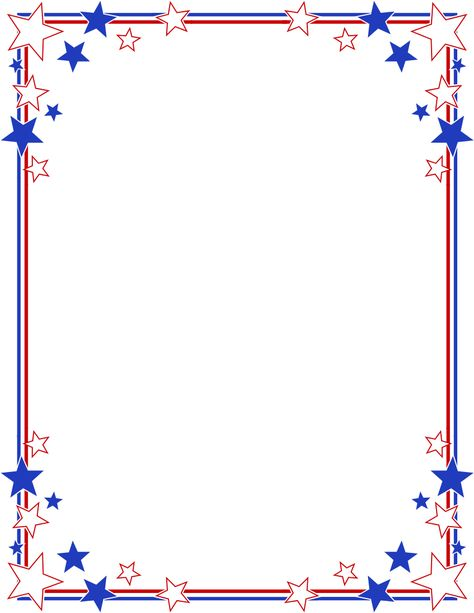 American stars border clipart png black and white library Pinterest png black and white library