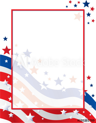 American stars border clipart free stock United States of American Flag Border with Stars and Stripes - Buy ... free stock