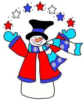 Americana snowman clipart clipart transparent Americana Snow Folks Clip Art | Clipart Panda - Free Clipart Images clipart transparent