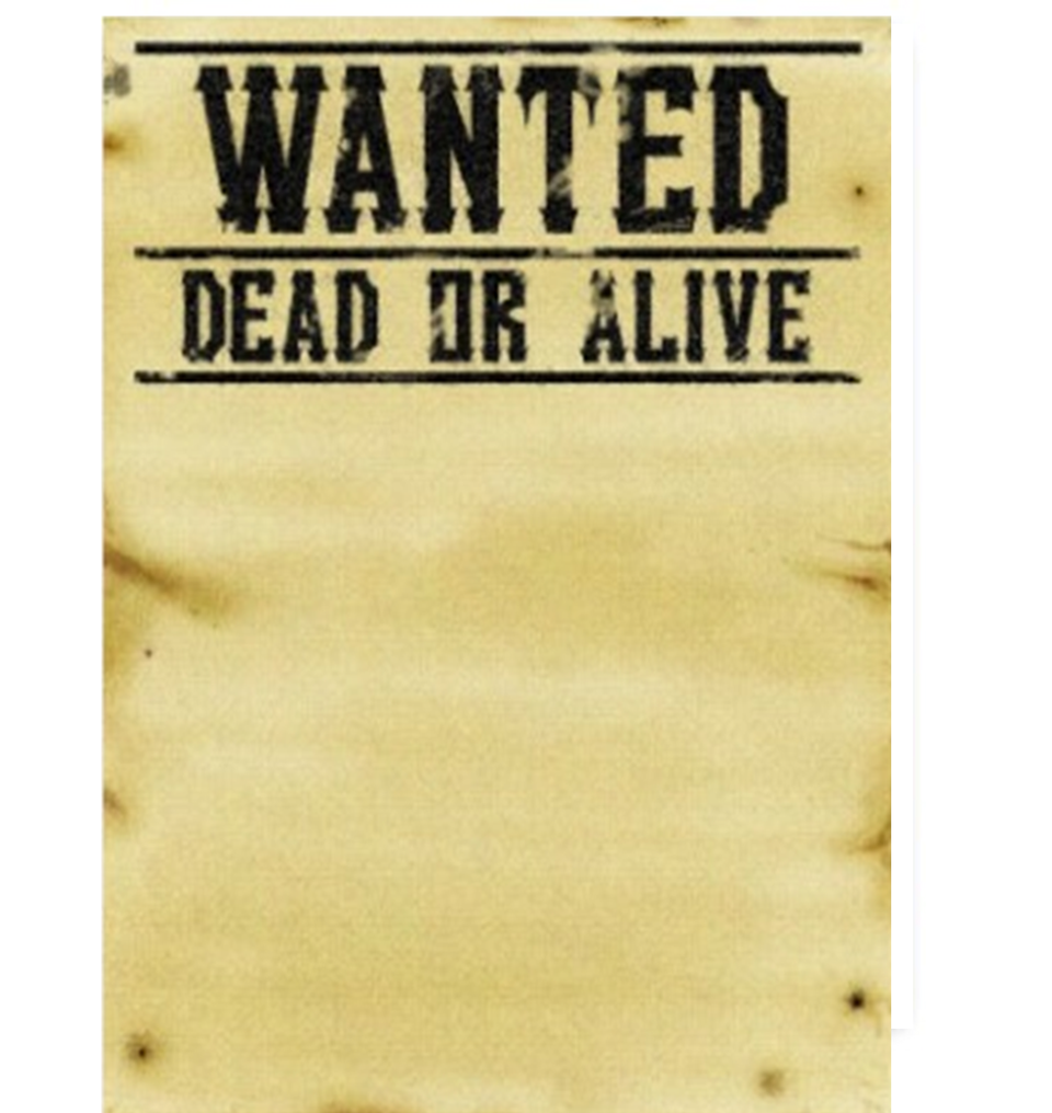 Wanted dead or alive clipart jpg freeuse America\'s Most Wanted Tee | G. Corll Art - Clip Art Library jpg freeuse
