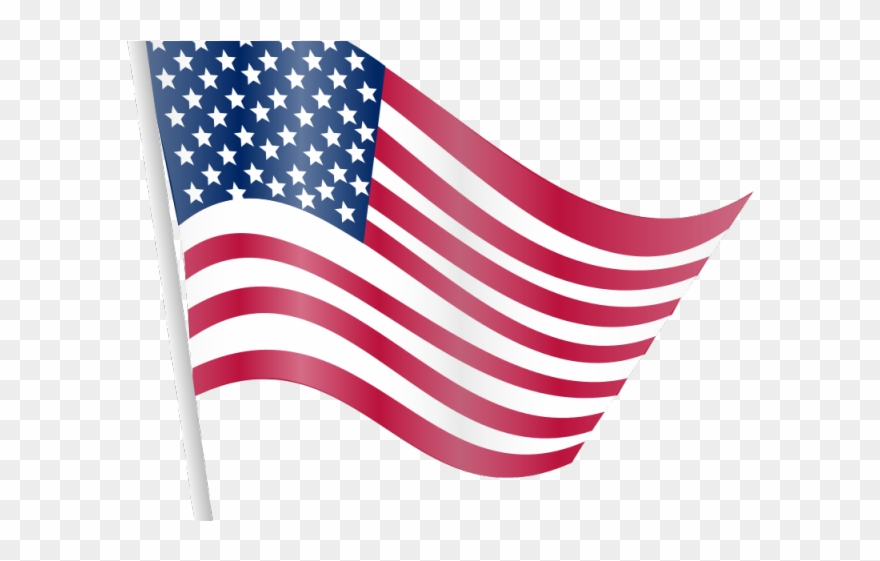 Americn flag on long pole clipart with transparent background png royalty free library Us Flag Clipart - Transparent American Flag Clipart - Png Download ... png royalty free library