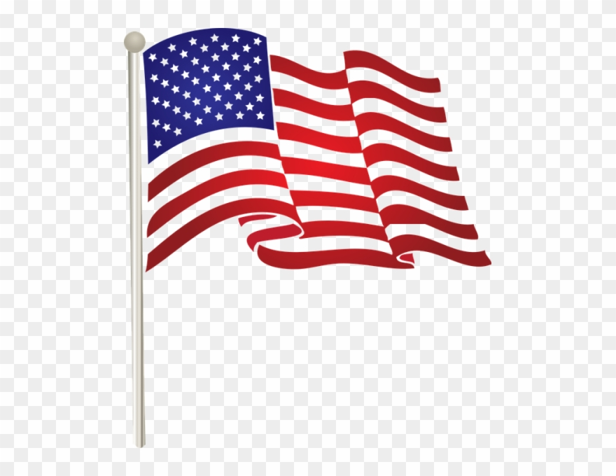 Americn flag on long pole clipart with transparent background freeuse download Illustration American Flag Transparent Png Stickpng - American Flag ... freeuse download