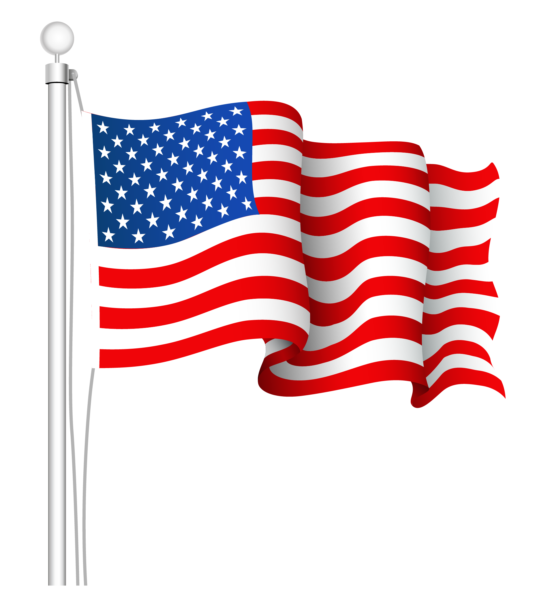 Americn flag on long pole clipart with transparent background png library download Flag of the United States Clip art - USA flag PNG png download ... png library download
