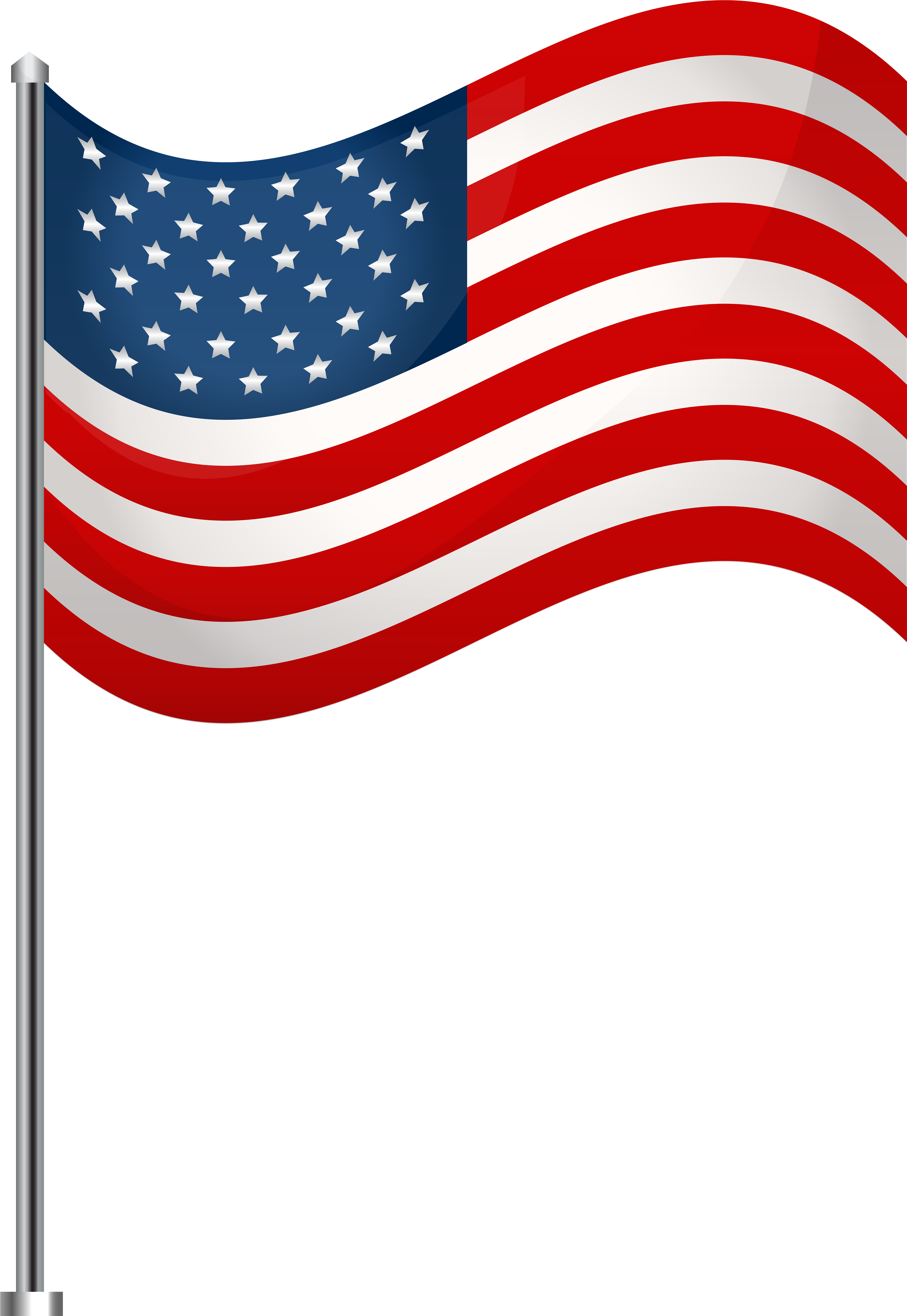 Americn flag on long pole clipart with transparent background clip freeuse stock HD Usa Waving Png Clip - Transparent American Flag Clipart , Free ... clip freeuse stock