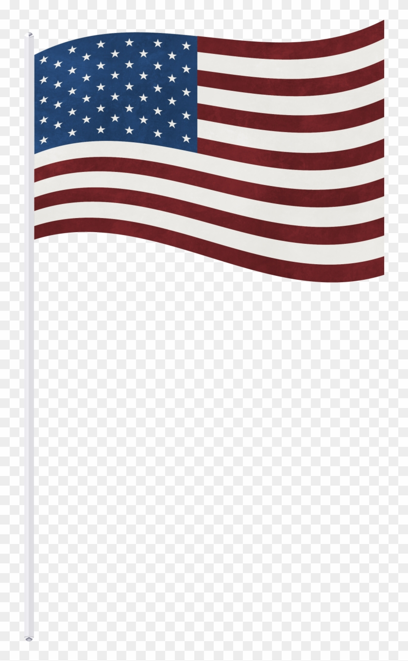 Americn flag on long pole clipart with transparent background clipart library stock Us Flag On A Stick Png , Png Download, Transparent Png - 742x1281 ... clipart library stock