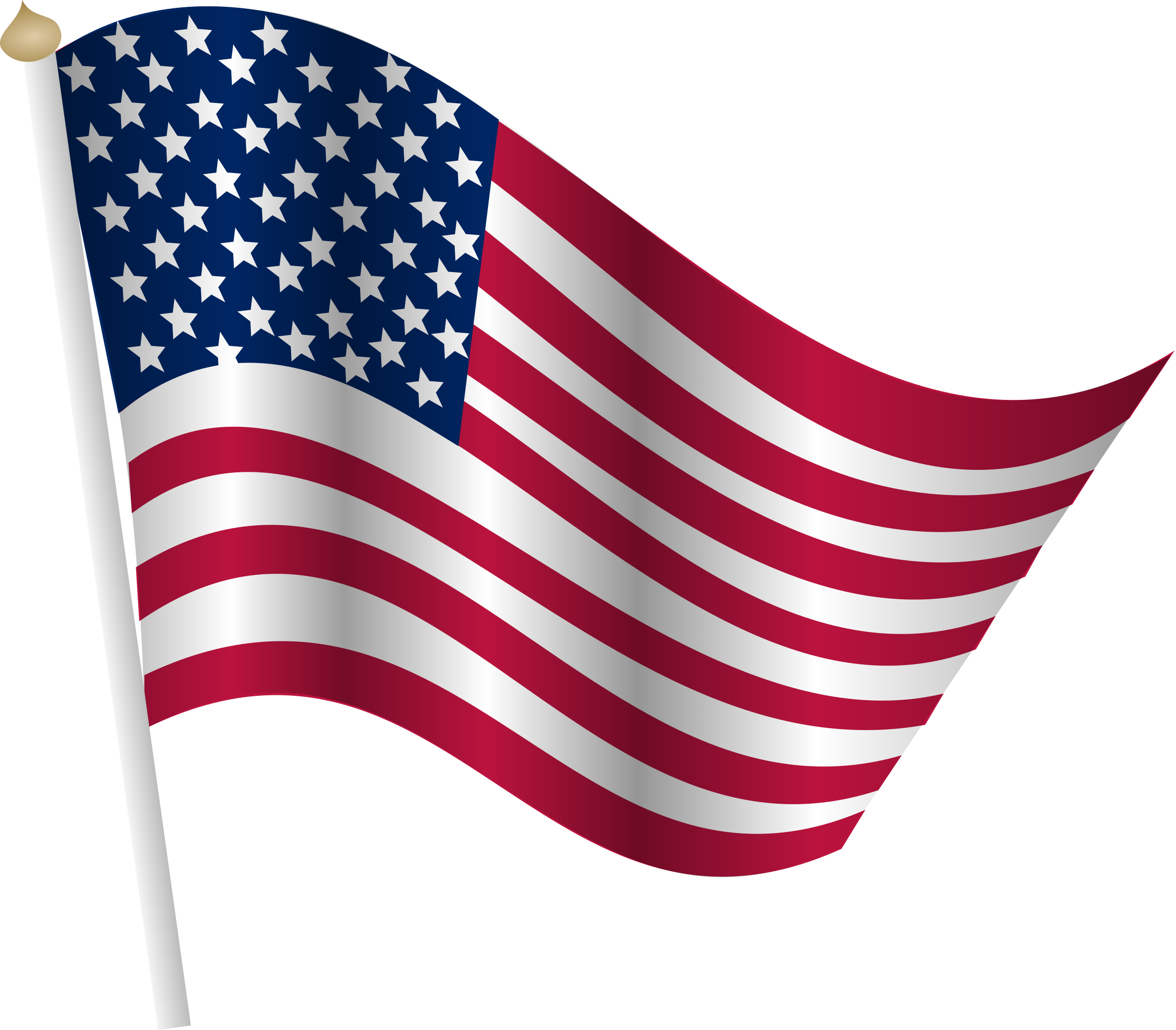 Americn flag on pole clipart with transparent background clip art black and white stock Flag of the United States Clip art - USA flag PNG png download ... clip art black and white stock