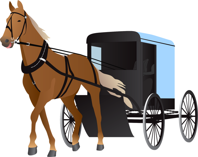 Free amish buggy clipart. Vector image stock photo