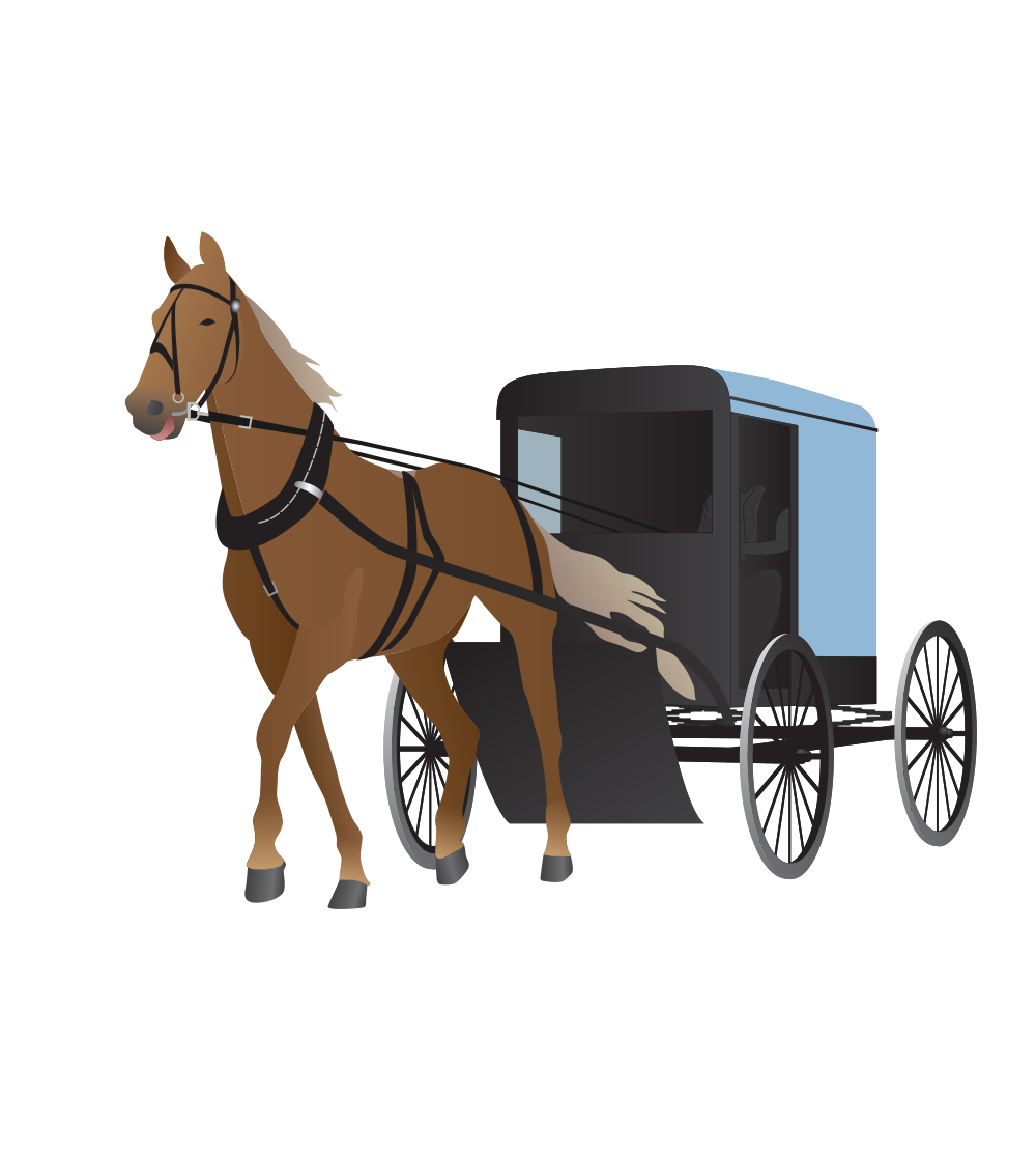 Amish clipart free clipart library download OnlineLabels Clip Art - Amish Buggy And Horse clipart library download