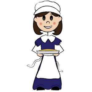 Amish girl clipart freeuse Cornbread clipart image a pilgrim woman with short brown hair ... freeuse