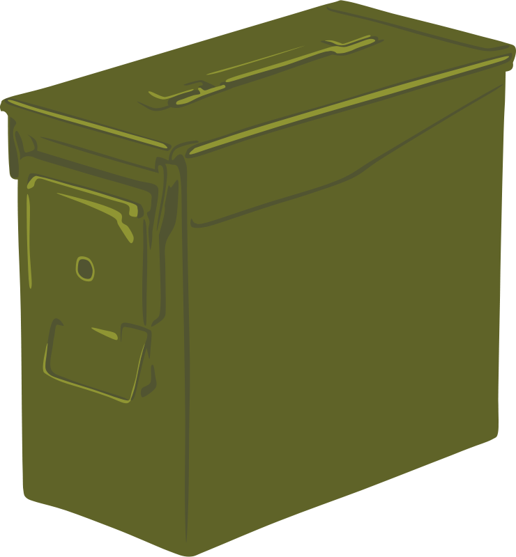 Ammunition clipart free transparent Free Clipart: Ammo Can | Gerald_G transparent