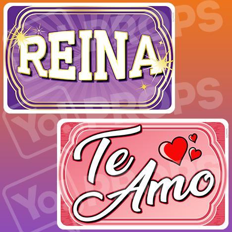 Amo espanol clipart vector library library Espanol Prop – Reina/Te Amo (Goddess / Love You) vector library library
