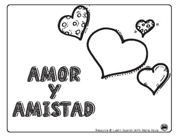 Amor y amistad clipart black and white clipart library download San valentin / amor y amistad / Valentines in Spanish clipart library download
