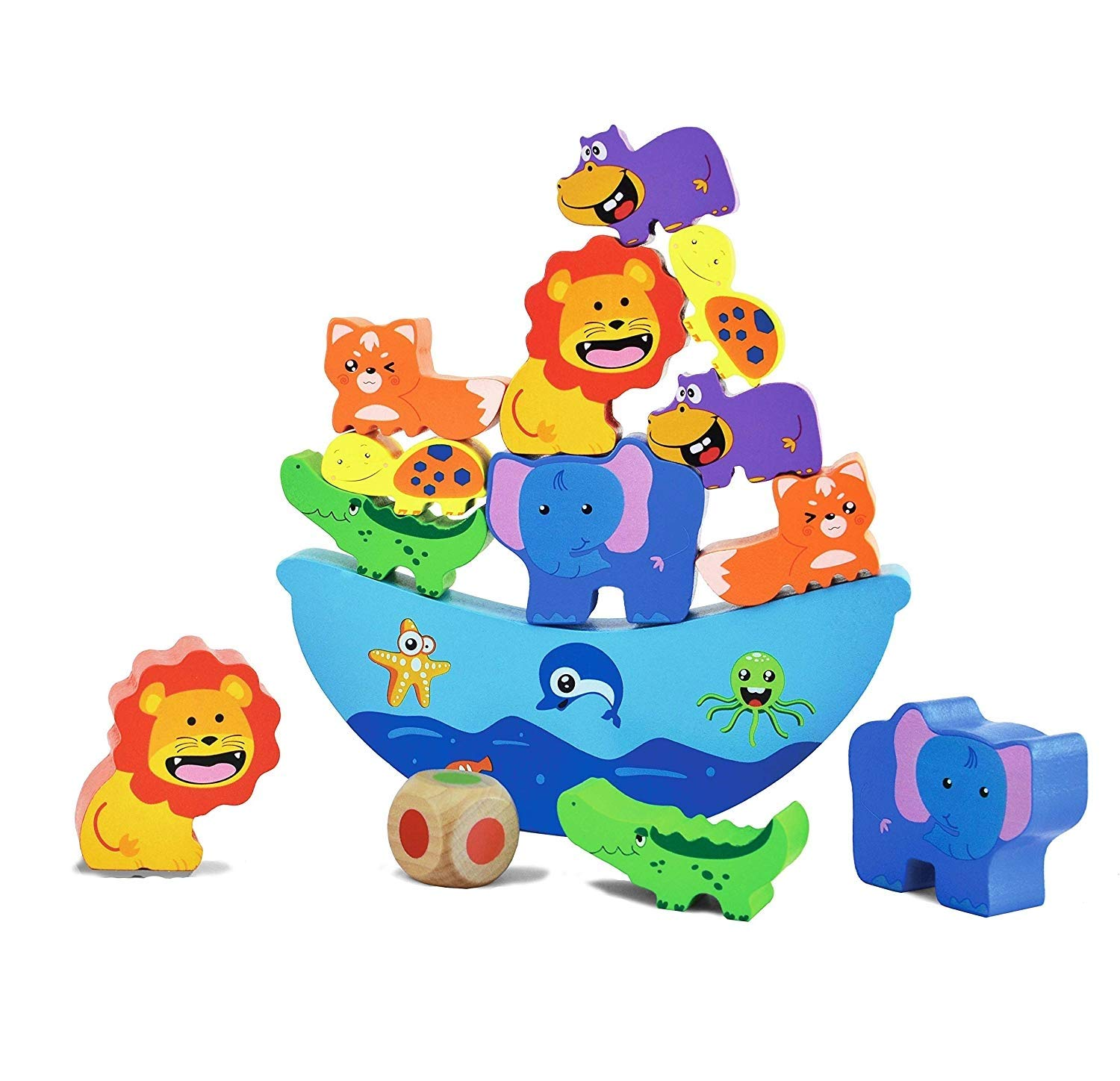 Ampersand clipart with kids png download Amazon.com: AMPERSAND SHOPS Kids Wooden Animal Stacking Building ... png download