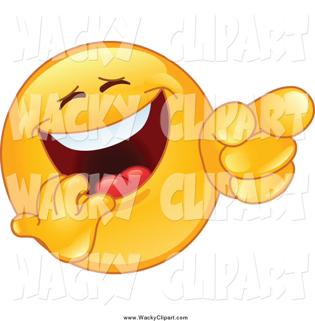 Amused face clipart royalty free Clipart of a Laughing and Pointing Emoticon Smiley Face by - Clip ... royalty free