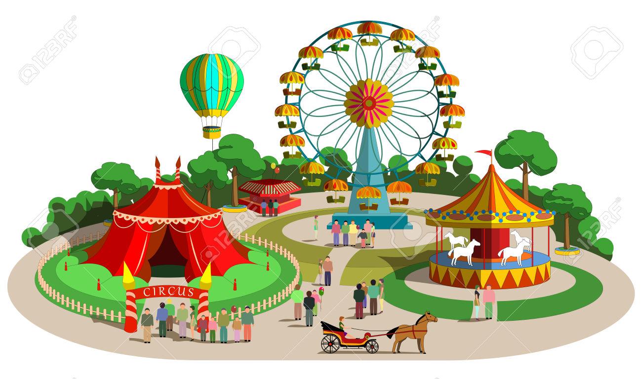 Amusement parks images clipart