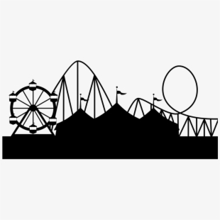Amusement park clipart silhouette graphic royalty free Image Library Stock Popcorn Clipart Silhouette Free - Carnival ... graphic royalty free