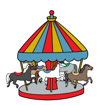 Amusement park clipart images black and white stock Merry-Go-Round Amusement Park Ride Clip Art black and white stock
