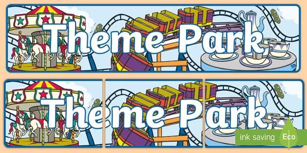 Amusement park signs clipart graphic library Theme Park Role Play Banner-theme park, role play, banner, role play ... graphic library