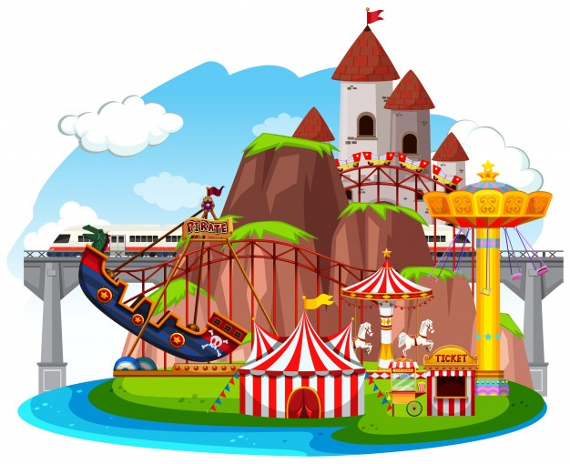 Amusement park signs clipart banner library stock Themepark Vectors, Photos and PSD files | Free Download banner library stock