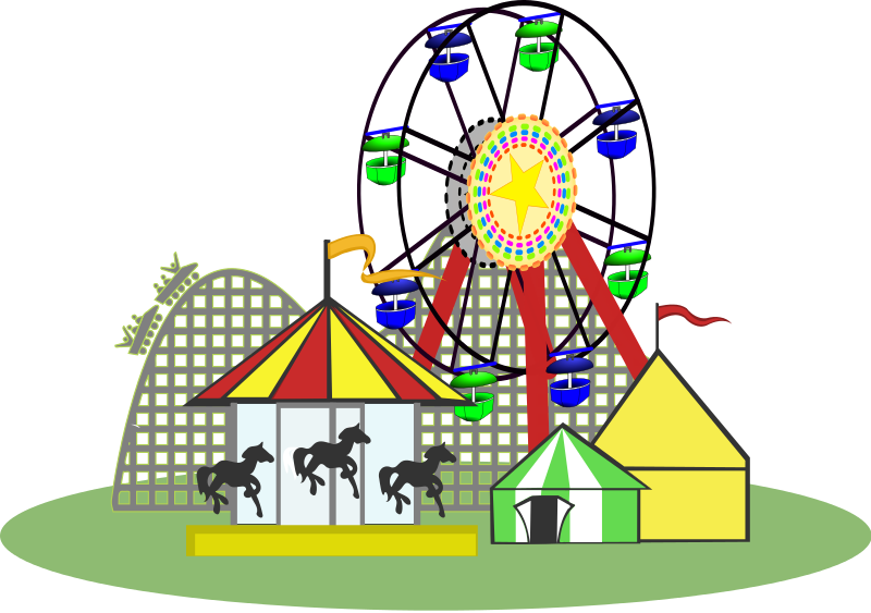 Amusement parks clipart free png royalty free 81+ Amusement Park Clipart | ClipartLook png royalty free