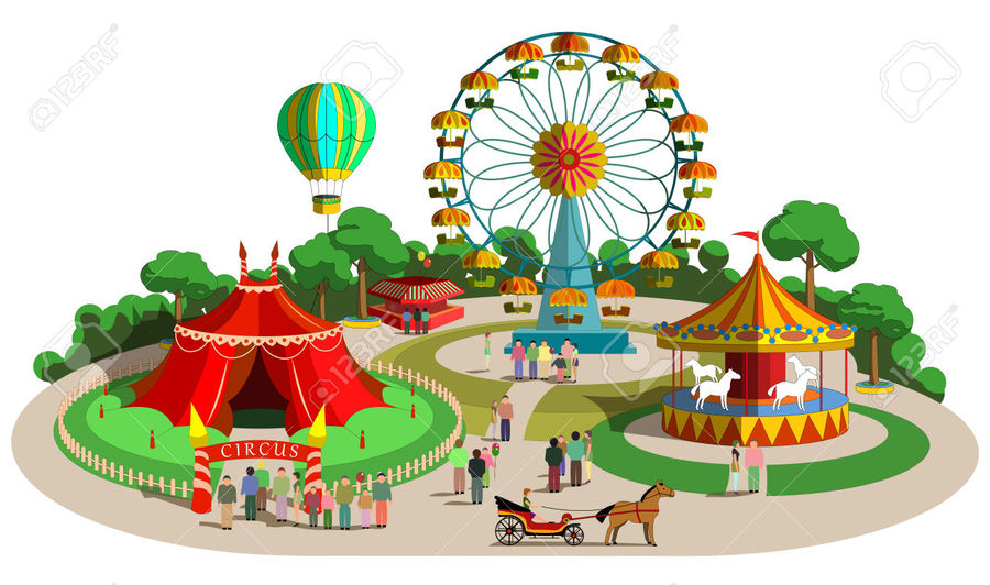 Amusement parks clipart free graphic royalty free library Download theme park clip art clipart Amusement park Urban park Clip ... graphic royalty free library