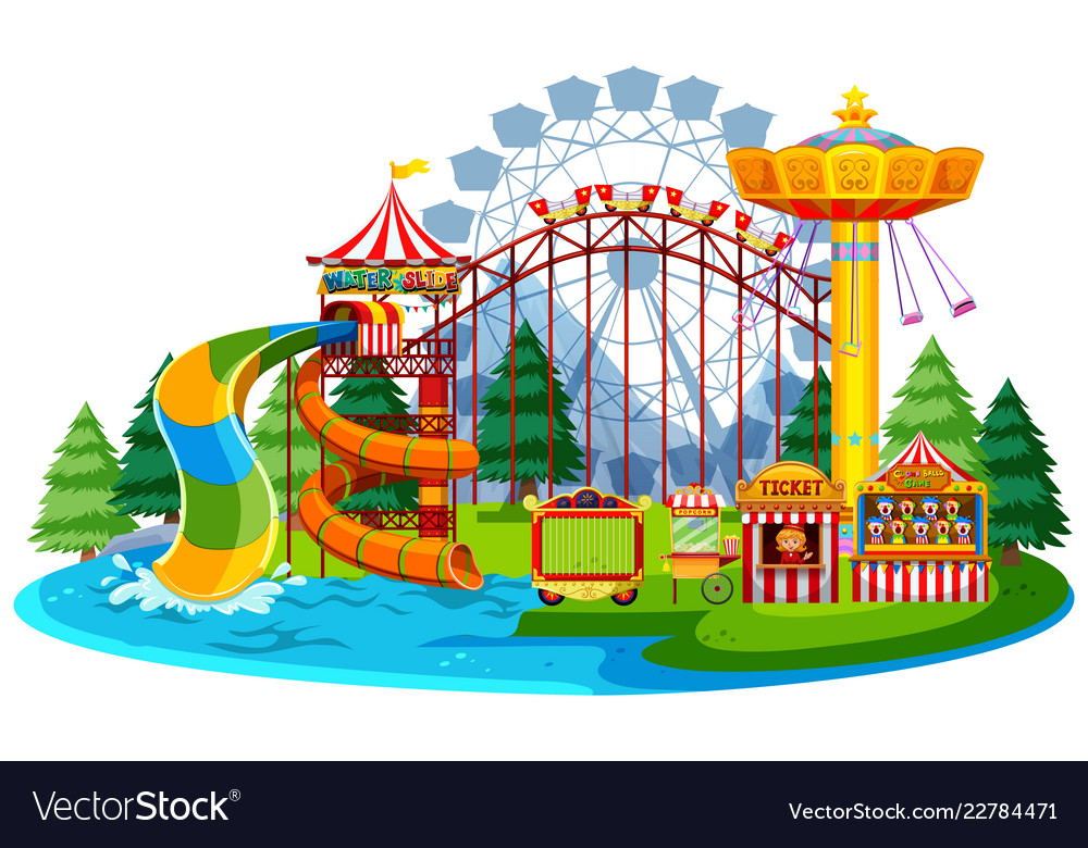 Amusement parks clipart free png royalty free library Fun water theme park png royalty free library