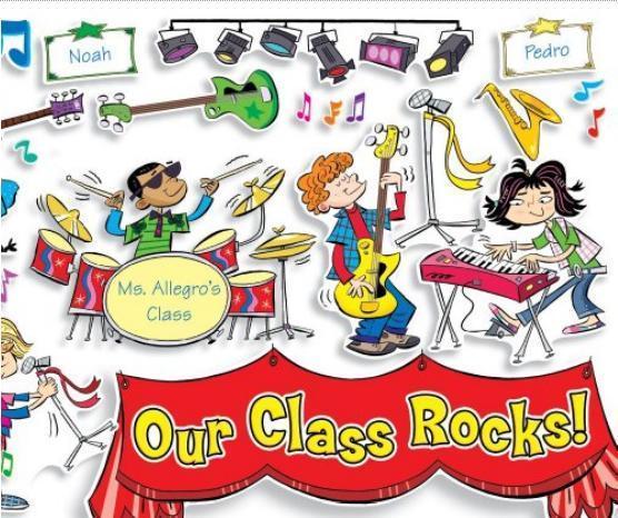 Amusement water park bulletin board ideas clipart png Rock\'n\'Roll Classroom Theme Ideas | FreshPlans png