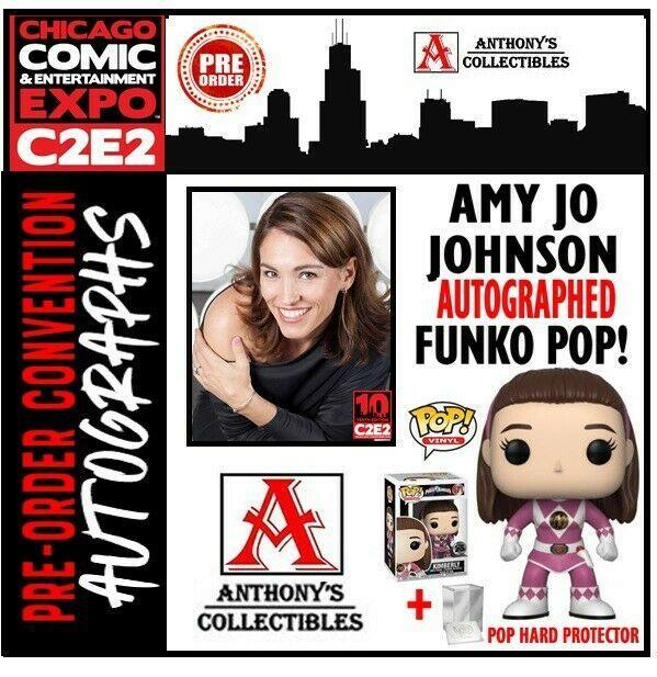 Amy jo johnson clipart clip art library library Funko POP TV MMPR Kimberly Pink Ranger Autographed C2E2 Amy Jo ... clip art library library