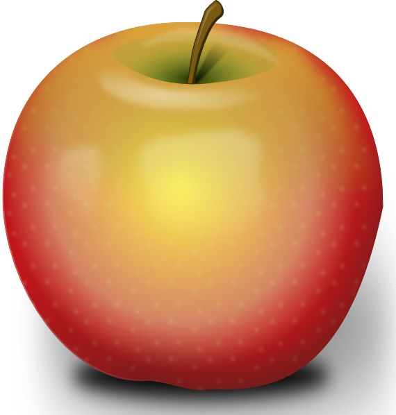 Free transparent apple clipart png royalty free library Photorealistic Red Apple Clip Art at Clker.com - vector clip art ... png royalty free library