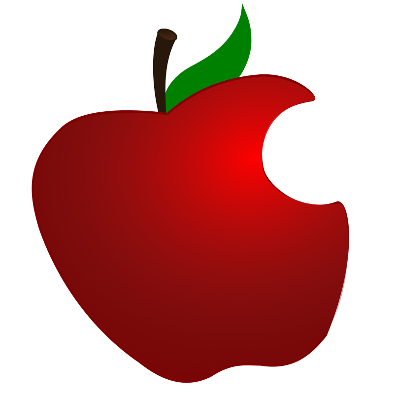 Apple with bite out of it clipart jpg Clipart - Apple with Bite jpg
