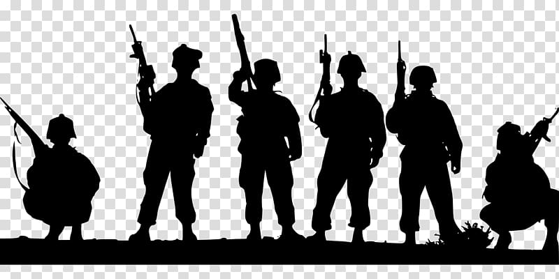 Military soldier kneeling with wings black and white clipart image freeuse download Soldier Military Army Silhouette, raise or enlarge an army ... image freeuse download
