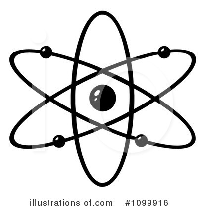 An atom clipart black and white download Atom Clipart #1099916 - Illustration by Hit Toon black and white download