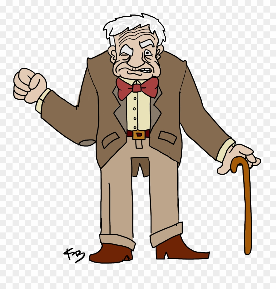 Very old man clipart png library library Old Man Transparent - Cartoon Old Man Png Clipart (#3453000 ... png library library