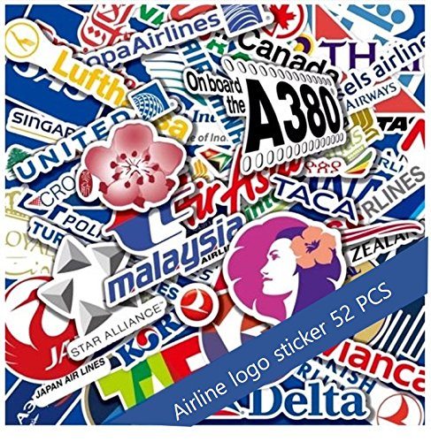 Ana airlines logo clipart transparent library Amazon.com: Airplane Logo Stickers Decal Worldwide Airlines A380 AIR ... transparent library