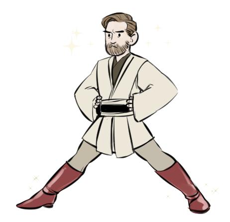 Anakin versus obi wan clipart png transparent library Obi-Wan Kenobi | Captain Rex the Epic | Star wars drawings, Star ... png transparent library