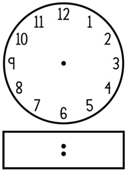 Analog to digital clipart jpg freeuse library Blackline/Clip Art Clock Template - Analog and Digital | Classroom ... jpg freeuse library