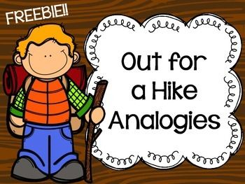 Analogies clipart clip black and white stock Freebie} Out for a Hike Analogies | Language | Speech therapy ... clip black and white stock