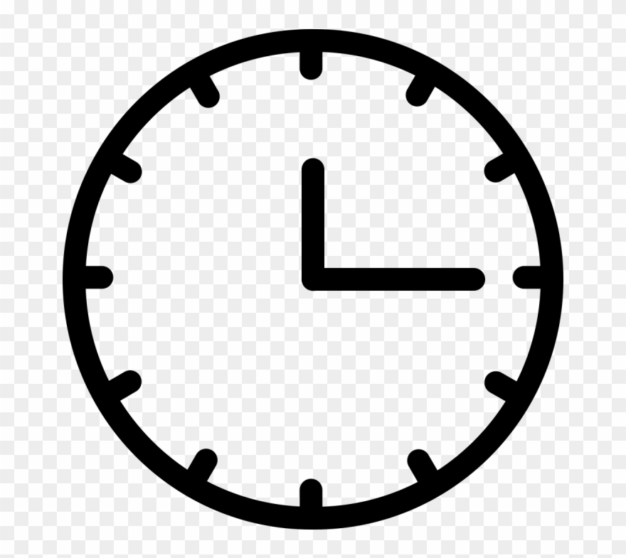 Analogue clock clipart picture Analog Clock Vector - Go Back Icon White Clipart (#1788965) - PinClipart picture