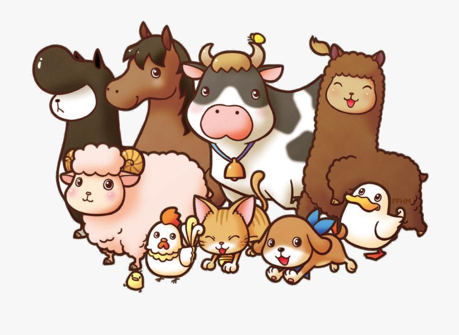 Animal smile clipart banner transparent Farm Animals Clipart Transparent - Harvest Moon Game Animals #14572 ... banner transparent