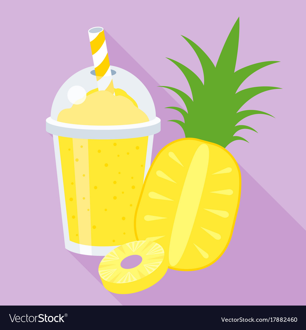 Smoothie clipart vector picture library stock Pineapple smoothie or juice picture library stock