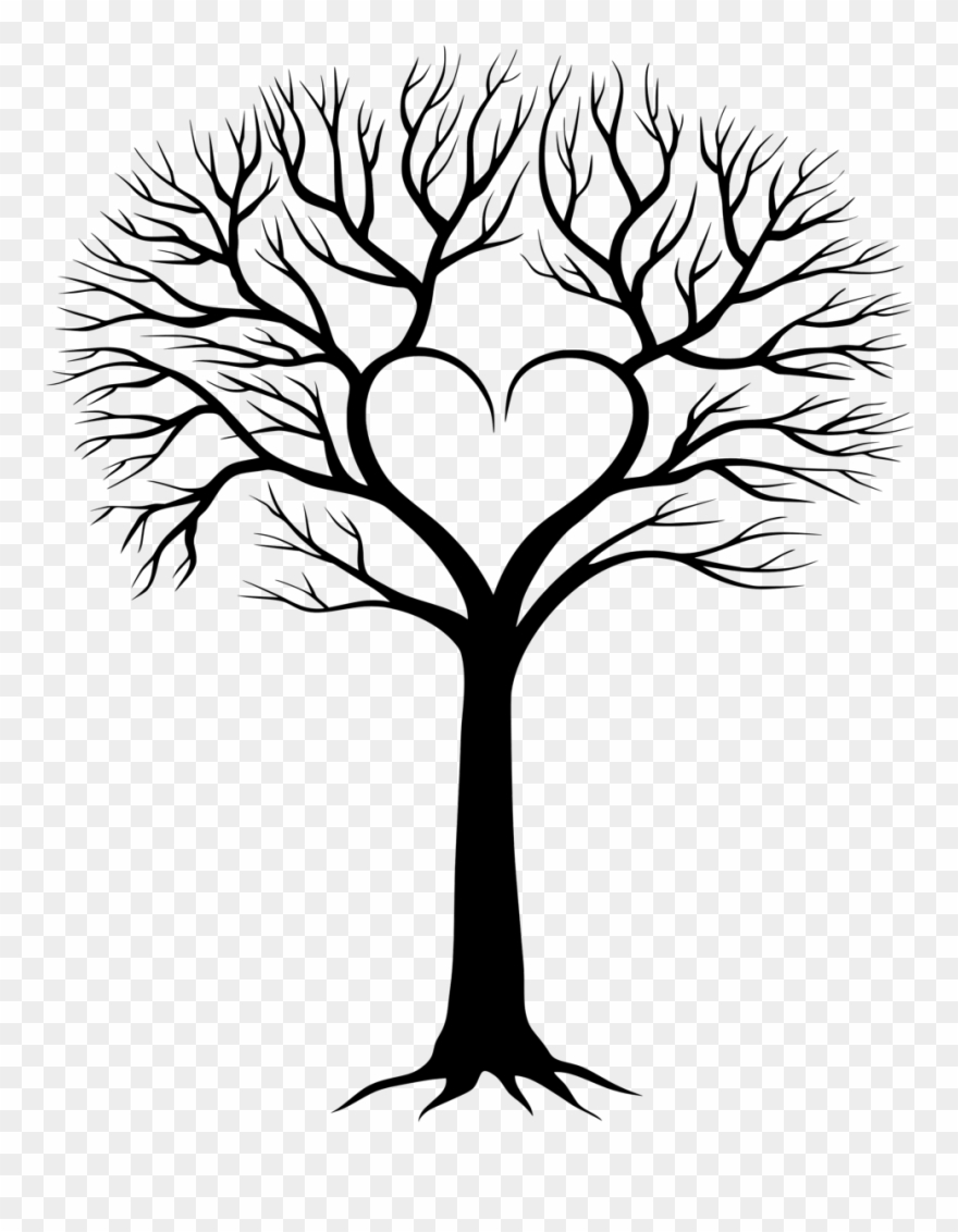 Tree with the word family in the middle clipart