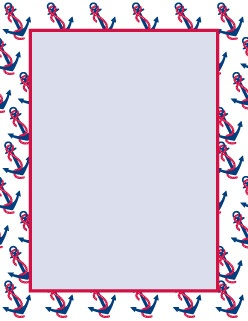 Clipart anchor border picture freeuse library 19 Images of Anchor Border Template Free Printable | zeept.com picture freeuse library